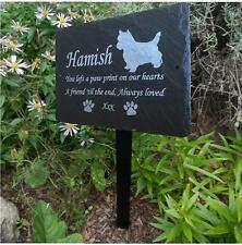 Personalised Engraved Slate Pet Memorial Grave Marker Plaque Dog Cat Rabbit Pet