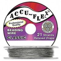 "30 Foot Spool Accu-Flex 21 Strand Clear 0.014"" Diameter Beading Wire"
