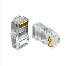 100PCS RJ45 Cat6e 8P8C Ethernet Network LAN Cable Lead Crimp End Plug Connector