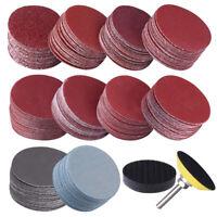 200Pcs Sander Disc Sanding 50mm 2in 80-3000 Grit Paper Abrasive Polish Pad Set
