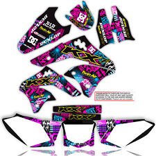 2003 - 2008 KX 125 250 GRAPHICS KIT NIGHTRIDER: MAGENTA / CYAN 21 MIL STICKERS