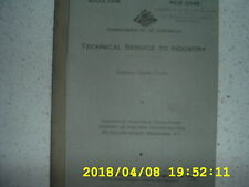 TECHNICAL SERVICE TO INDUSTRY. Commonwealth of Australia. x 16