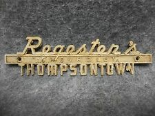 Vintage 1970's Regester's Chevrolet Thompsontown PA Car Emblem 19087