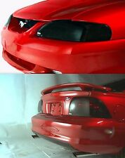 Smoke Head Light + Tail Light Covers for 1987 - 1993 Ford Mustang