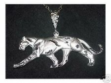 Panther Cougar Sterling Silver charm Pendant Jewelry