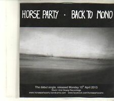 (DT303) Horse Party, Back To Mono - 2013 DJ CD