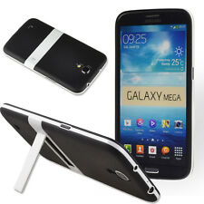 "For Samsung Galaxy Mega 6.3"" GT-I9200 Black Tuff Hard Hybrid Case Cover w/stand"