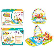 Musik Erlebnisdecke mit Spielbogen Spieldecke Krabbeldecke Spielmatte Babygym