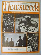 Rare NEWSWEEK 10 Different Magazine Issues From November 15,1937 to July 29,1940
