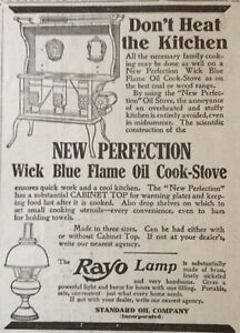 1909 AD(XF4)~STANDARD OIL CO. NEW PERFECTION BLUE FLAME OIL COOK STOVE