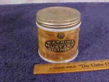 Vintage WATKINS MUSTARD OINTMENT In J.R. Watkins Co., Jar