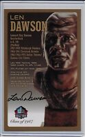 Len Dawson Pro Football Hall of Fame Autographed Bronze Bust Card 100/150