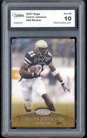 2007 Calvin Johnson Sage rookie gem mint 10 #28