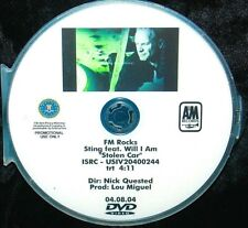 STING feat WILL I AM Stolen Car Promo Music Video DVD Single Black Eyed Peas