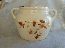 Hall's Bean Pot 2 Handles & Lid Autumn Leaf Jewel Tea Company 2.25 Quart