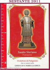 457 SANTINO HOLY CARD  SANTO S. STEFANO PROTOMARTIRE  PROTETTORE PUTIGNANO