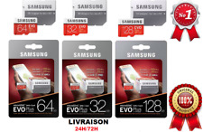 Carte Mémoire Samsung Evo Plus Micro sd 32/64/128 GO SDXC/SDHC+ Adaptateur