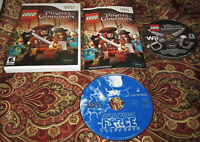 LEGO PIRATES OF THE CARIBBEAN & Star Wars Force LOT of 2 🔥Nintendo Wii Games🔥