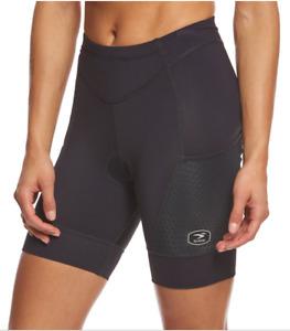 NWT Sugoi Women's Piston 200 Tri Pkt Short Size XS Black MSRP $80