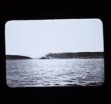Glass Magic Lantern Slide Cuban War 38 Where USS Merrimac Was Sunk Cuba c1898