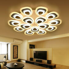 3/5Head Acrylic Modern LED Chandelier Ceiling Light Lamp Pendant Dimming Fixture