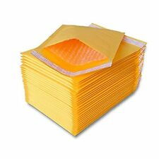 250 pcs #000 Kraft Bubble Padded Envelopes Self-Sealing Mailers 4X8 (Inner 4x7)