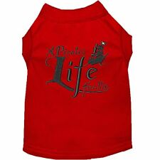 Mirage Pet Products A Pirate's Life Embroidered Dog Shirt Red Lg (14)