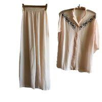 Vintage Tommies Pajamas Set 'Tall' Pink Embroidered Sissy