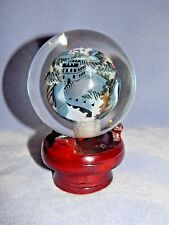 Art Glass Paperweight Reverse Painted Great Wall of China w/ Stand - Signed too!