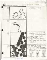 Beetlejuice Original Production Animation Storyboard Nelvana Tim Burton 1990 d4a