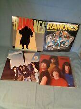 4 albums THE RAMONES SIRE SRK 3571 6063 SR 6031 NP SRK 6077 NP ROAD TO RUN vinyl