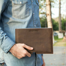 Luxury Retro Genuine Leather Ipad Sleeve Case Hand Bag Pouch For IPad Air 9.7""