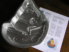 2008 Wilton PIRATE SHIP Cake Pan Mold #2105~1021 w/ Variations & Instructions