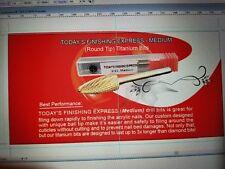 ES_ For Nail Art Manicure Pedicure Tools Carbide Drill Bits Burr Files Sharp Nat