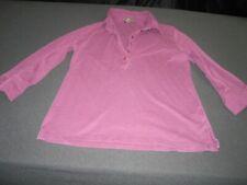 Eddie Bauer Outdoor Womens Purple collared 3/4 Shirt Top Sweater Medium~ 7656