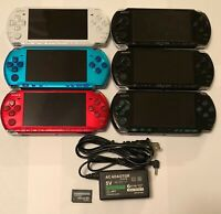 Black White Blue Red Pink Silver Sony PSP 3000 System 4gb Bundle Import TESTED
