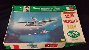 Seltener Modellbausatz SAVOIA MARCHETTI S.55X VON DELTA von 1973 scala 1/72