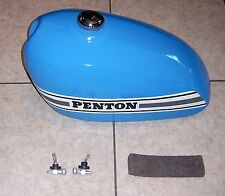 1970s PENTON/KTM JACKPINER 175 HI-POINT STYLE TANK w/PETCOCKS, EX/RESTO (#CT138)