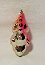 4 Inch-Vintage-Silver/Pink Baby Parrot/Bird Glass Christmas Ornament-Russia