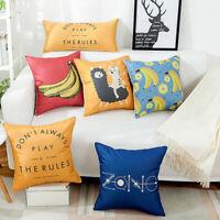 Banana Pattern Pillow Case Cotton Linen Sofa Waist Cushion Cover Home Decor