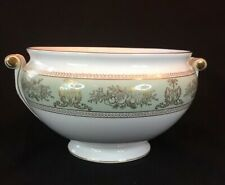 Soup Tureen Base - Wedgwood Gold Columbia Sage Green