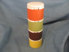 Vintage Tupperware Stacking Spice Shaker Complete Set of 4 Harvest Colors 1308