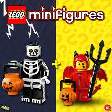 LEGO Minifigures #71010, #71013 - Halloween - Squelette + Diablotin - Sealed