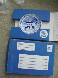 "Lot of 2 1987 Royal Copenhagen Mini Collector Plates 3 1/4"" Wide NIB"