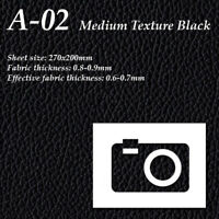 Camera Leatherette Cover Binoculars Leather A-02 Med. Texture Black