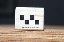 Checker Board Border Wood & Foam Backed Rubber Stamp