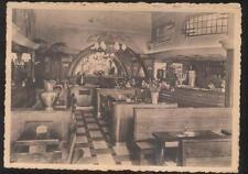 POSTCARD BRUSSELLS BELGIUM HOTEL BELGICA RESTAURANT INTERIOR 1940'S