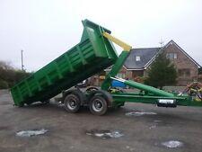 hook lift trailers roll on off farm hookloader low loader tipper dumptrailer