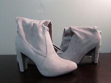 Brand new catwalk collection Jorja Grey suede knee high boots size 8 (Eu 39)