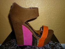 Multi Color Open Toe Wedge Sandal from the Maker of Liliana shoes